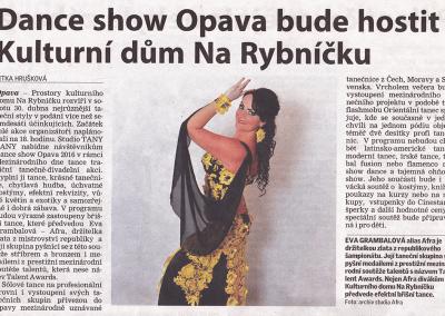 dance show opava 2016 rybnicek opava